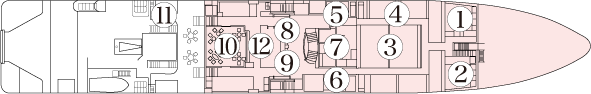 1F Standard cabins and common areas
